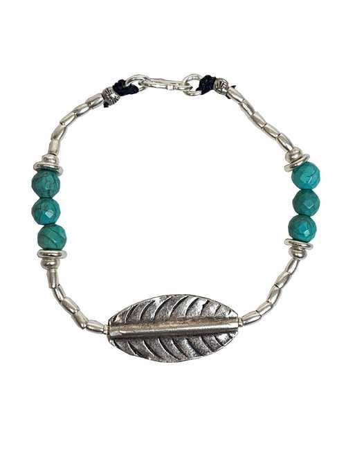 Rico Designs pure silver and turquoise bracelet