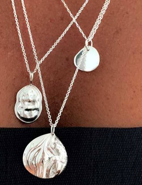 Rico Designs sterling silver necklace layering