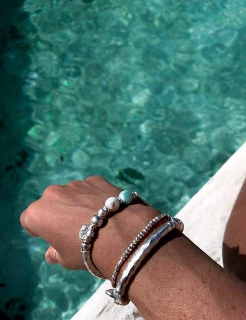 Rico Designs pure silver bracelet stack