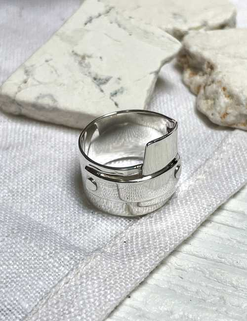 think sterling silver ring